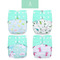 Elinfant New 4pcs/set Coffee Pocket Baby Diapers Washable Diaper Cover Reusable Adjustable Nappy ES060-A 4pcs