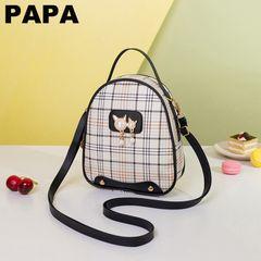 New Fashion Women's Bag Handbag Mini Sling Bag Korean Pearl Strap Women Backpack Small Shoulder Bag black L22cm * W7cm * H19cm