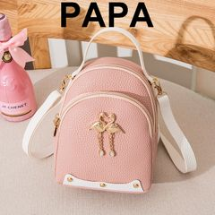 New Fashion Women's Backpack Woman Handbag Sling Bags Lady Shoulder Cross-Body Bag Pink 25CM*9CM*19CM