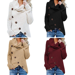 Turtleneck Sweater Thick Warm Knitwear Pullover Female Knitted Sweater Jumper Women Sweater Female khaki l