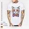 Customized T-shirt DIY Men/Women 7 Color Pure Cotton White M Cotton