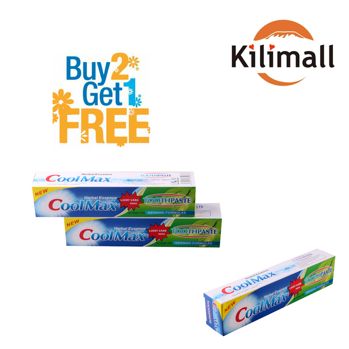 CoolMax Herbal Essence Toothpaste (BUY 2 Get 1 Free)  - As per the picture 150g