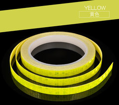 Reflective Strips Stickers for Car Motorcycle Bicycle Yellow 8m