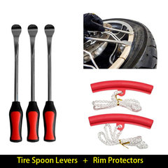 Tire Change Tool Set Tyre Spoon Lever Tools Rim Protector Sheaths For Motorcycle Bicycle