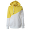 Sweater Long sleeve jacket with matching colors, cordage, cap, head pocket yellow xl