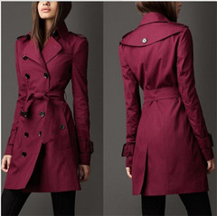 Tackets New style overcoat for women in Spring Festival red wine m