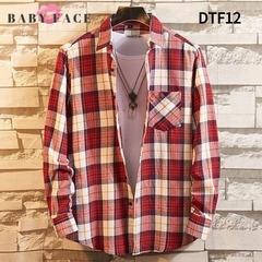 BABYFACE 2019 new men plaid long sleeve shirt Cotton leisure shirt slim collar shirt DTF12 39/m