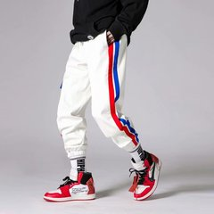 Baby face 2019 new fashion ins super fire pants trousers hip-hop overalls White S