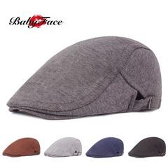Babyface beret male and female duck hat literary retro baseball cap visor casual forward hat Dark gray adjustable