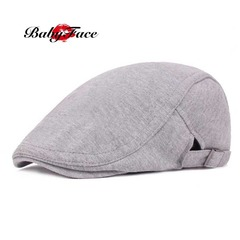 Babyface beret male and female duck hat literary retro baseball cap visor casual forward hat light grey adjustable