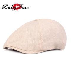 5th Anniversary Hot Deals Cotton Beret Men and Women Caps Vintage Distressed Caps Monochrome Berets beige 56cm-58cm