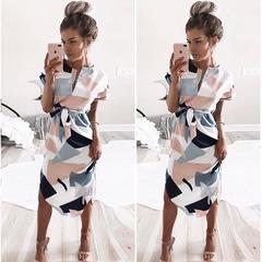 Babyface sexy woman dress print dress off-shoulder party beach skirt V-neck long skirt xxxl 02