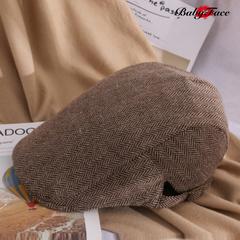 5th Anniversary Hot Selling Woo Hat Men and Women Beret Caps Casual Advance Cap brown 55cm-60cm