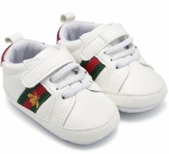 Boy and girl Red heart five-pointed star baby shoes, baby soft bottom shoes 02 12cm White 13cm
