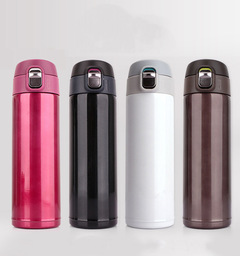 High Quality Stainless Steel Vacuum Flask Thermos Thermal Water Bottle 500ml red 500ml