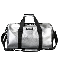 The gym sports bag can hold shoes and couples'travel bag black One size