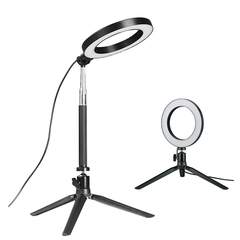 Dimmable LED Ring Light Photo Studio Video Light Annular Lamp with Tripod Makeup beauty LED+Tripod LED+Extension+Tripod as shown