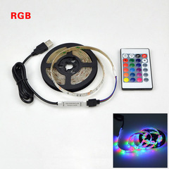 USB LED Strip lamp Flexible LED light 1M 2M 3M 4M 5M HDTV TV Desktop Screen Background Bias lighting RGB with 24keys 50CM 2.88W