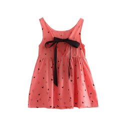 Wholesale Baby Dress Girl Retro Cotton Blend Blouse Cotton Girl Sleeveless Backless Crocheted red 3t