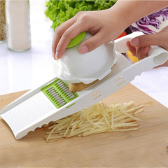 Blade Mandoline Slicer Potato Peeler Carrot Cheese Grater vegetable slicer Kitchen Accessories Green without box one