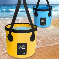 20L/12L Outdoor Portable Foldable Water Washbasin Bucket Camping Fishing