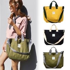 Canvas Bag Large Capacity Handbag Wild Shoulder Messenger Bag Tote Handbag green one size