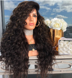 Long Black Curly Wig Synthetic Hair Wigs Wig Black Wavy Curly Wigs Natural Hairline Curly Africa nomal nomal