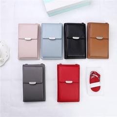 Small Change Purse Female Buckle Shoulder Bags Mini Messenger Bag Money Wallet black one size