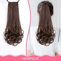 Drawstring Curly Wig Ponytail Heat Resistant Hairpieces Natural Clip In Hair Extensions nomal 38cm-1