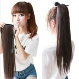 Long Lady Girl Straight Ponytail Wigs Hair Hairpiece Extension Dark Brown One size 1pc