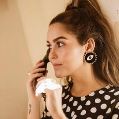 Vintage Ethnic Black Color Big Eyes Charm Stud Earrings for Women Fashion Jewelry Bohemian Collection Earrings Accessories