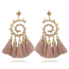2019 Fashion Bohemian Ethnic Big Long Tassel Earrings  Fashion Jewelry Drop Earrings for Women black 1