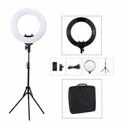 Tolifo R48B LED Ring Light LED Lamp Bi-Color Photography Video Studio Light+PHONE HOLDER black normal
