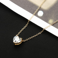 【buy 1 get 1 free】Jewelry Alloy Necklace Women's Fashion Peach Heart Love Metalli Thrus gold buy 1 get 1 free