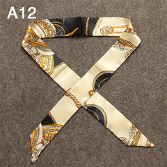 10pcs Women's silk Scarves Hot Sale Bag Scarf Brand Bag Ribbons China-Africa Cultural Bridge gift 10 pcs