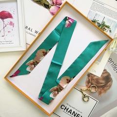 10pcs Women's silk Scarves Hot Sale Bag Scarf Brand Bag Ribbons China-Africa Cultural Bridge gift 10 pcs
