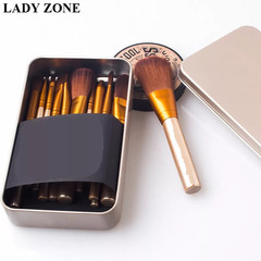 12pcs Makeup Brushes Portable makeup sets Powder Blush Cosmetic Makeup Brushes Tool as picture
