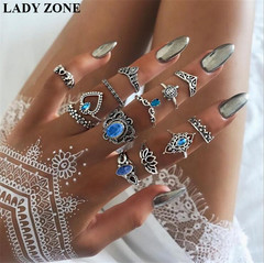 2019 Jewelry 13 Set Alloy Rings Women's Fashion Women's Accessories as picture one size