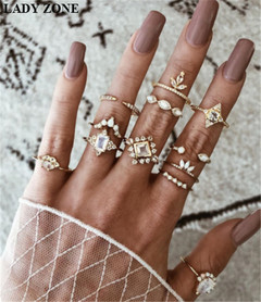 2019 Jewelry 12 Set Alloy Rings Women's Fashion Women's Accessories as picture one size