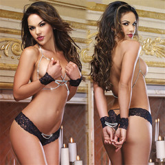 Sexy Lingerie Women Open Bra Erotic Babydoll Transparent Porn Sexy Underwear +T Pants black one size(50kg-70kg)