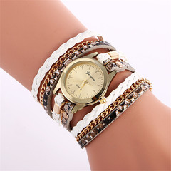 Women Leather Decorative Wristwatches Ladies Pendant Quartz Watches Fashion Accessory Gift white one size