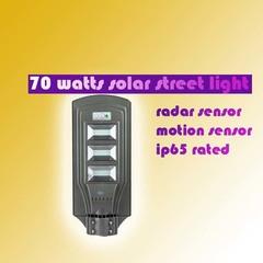70 WATTS SOLAR GARDEN/STREET LIGHT grey and blue 45X20X3