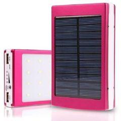 Solar Power Bank Charger- 16800mah pink 16800