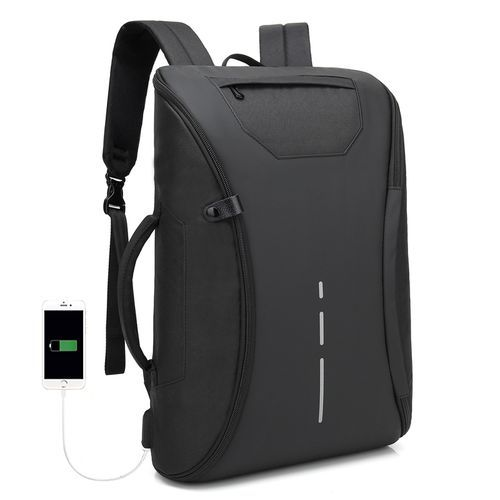 Antitheft Bags With Charging Port And Many Partitions - Black black normal
