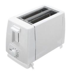 Electric Bread Toaster,  2-Slice - White white