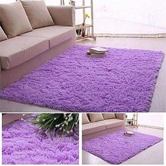 Fluffy Smooth Carpet - Purple Purple normal