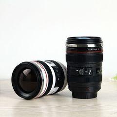 Camera Lens Shape Cup Coffee Tea Travel Mug Stainless Steel Vacuum Flasks Worldwide Store random