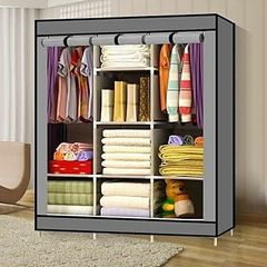 Portable Wardrobe - 3 Columns - 130*170*45 - Grey random