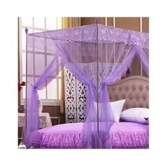 Mosquito Net with Metallic Stand 4 by 6 - Purple purple