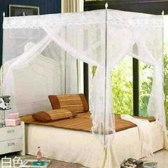 Mosquito Net with Metallic Stand 4 by 6 -White white